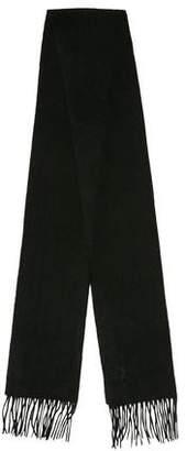 Saint Laurent Logo Wool Scarf