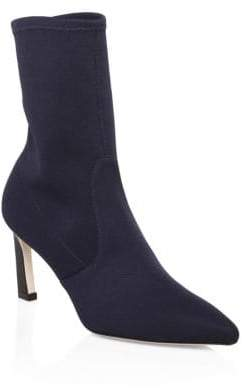 Stuart Weitzman Rapture Stretch Knit Canvas Booties