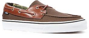 Camo Vans Footwear The Zapato Del Barco Boat Shoe in Canteen &