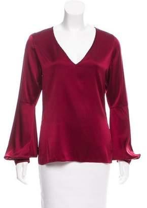 Ramy Brook Silk Long Sleeve Top