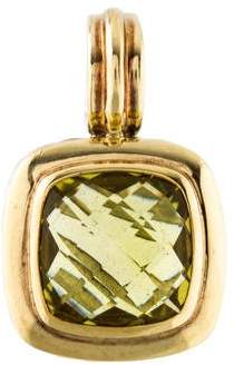 David Yurman Lemon Citrine Albion Enhancer Pendant