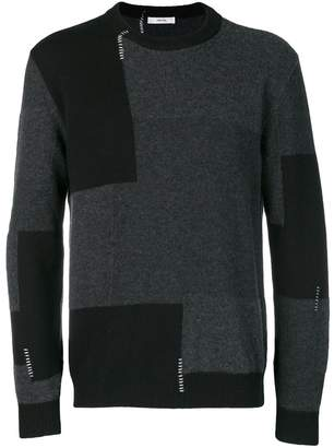 Mauro Grifoni colour-block sweater