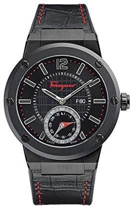 Salvatore Ferragamo Men's 'F-80' Swiss Quartz Stainless Steel and Leather Casual Watch