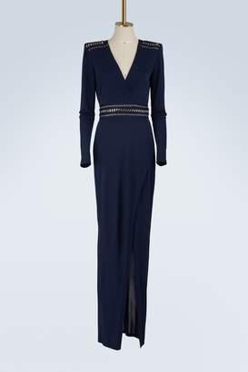 Balmain Chain laced maxi dress