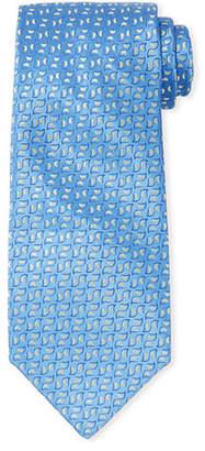 Charvet Men's Neat Pattern Silk Tie