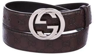 Gucci Guccissima Leather Belt