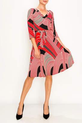 Dar Lin Miss Darlin Faux Wrap Dress