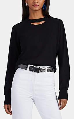 Maison Margiela Women's Split-Neck Cashmere Sweater - Black