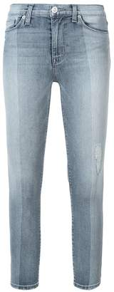 Hudson high rise skinny cropped jeans
