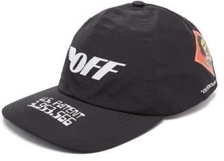 Off-White Off White Gore Tex Logo Print Cap - Mens - Black White