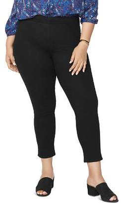 NYDJ Plus Pull-On Skinny Ankle Jeans in Black