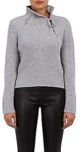 Derek Lam 10 Crosby Women's Self-Laced Wool-Blend Sweater-Gray