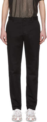 Gucci Black Embroidered Chinos