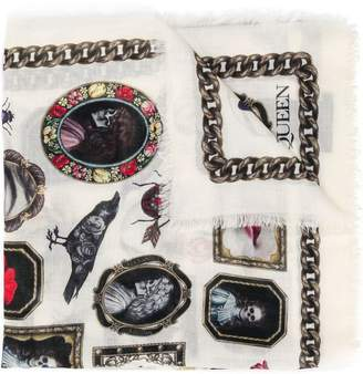 Alexander McQueen Skull Portrait scarf