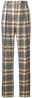 Alberta Ferretti high waist checked trousers