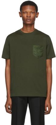 Prada Green Logo Patch T-Shirt