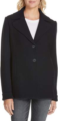 Nordstrom Signature Cable Knit Detail Wool Blazer