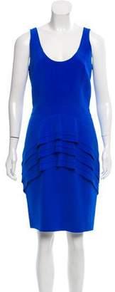 Brian Reyes Silk Knee-Length Dress