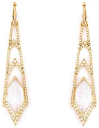 Stephen Webster 'Crystal Haze' long diamond earrings