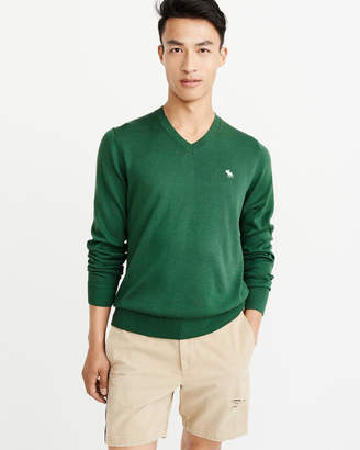 Abercrombie & Fitch The A&F Icon V-Neck Sweater