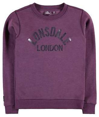 Lonsdale London Kids Girls Crew Neck Sweater Junior Jumper Pullover Long Sleeve Warm