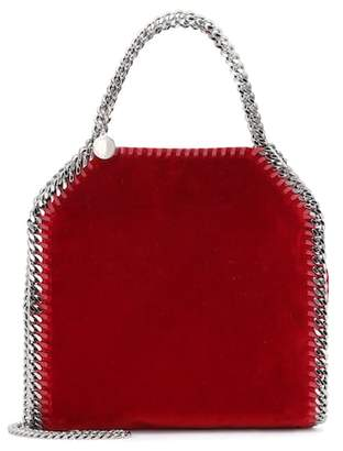 Stella McCartney Falabella Mini 3 Chain velvet tote