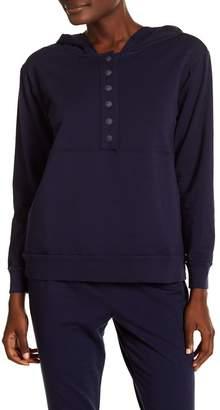LOVE + GRACE Hooded Henley Sweatshirt