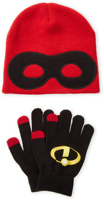Disney Boys 4-7) Two-Piece Mask & Logo Beanie & Gloves Set