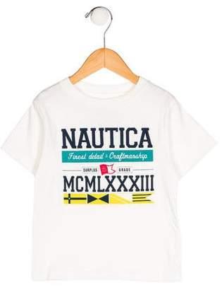Nautica Boys' Logo Print Short Sleeve Shirt