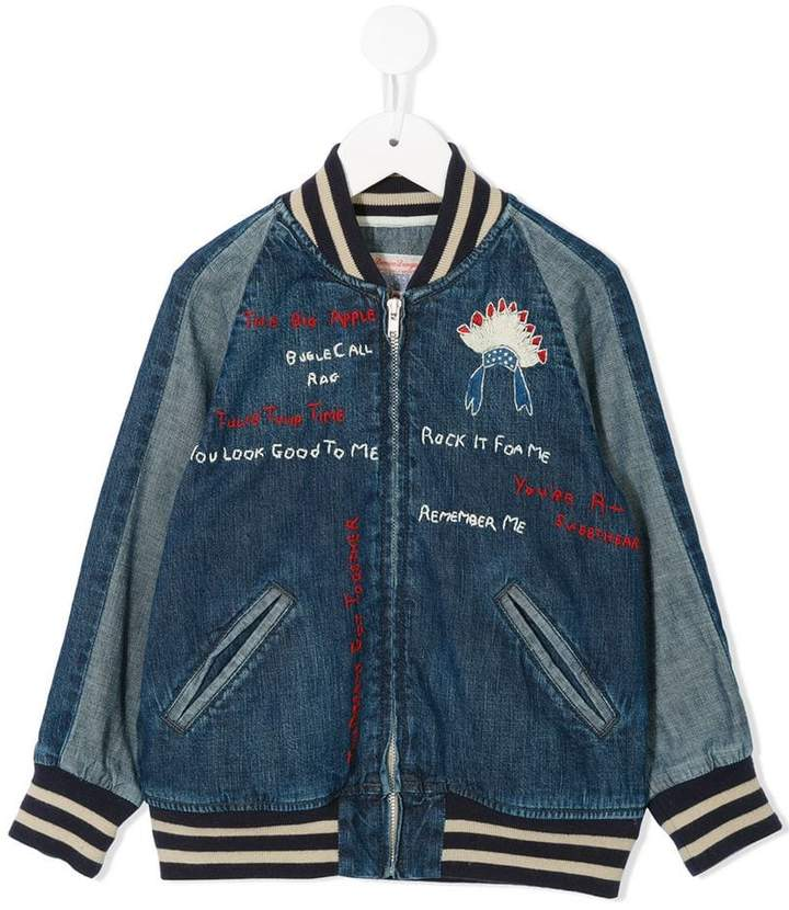 Denim Dungaree denim bomber jacket