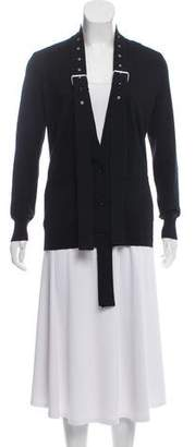 Givenchy Wool Collarless Cardigan