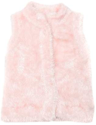Milly Minis Faux Fur Knit Vest