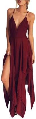 ARINLA 2018 Summer skirt Boho long party cocktail casual beach dress sunless sling
