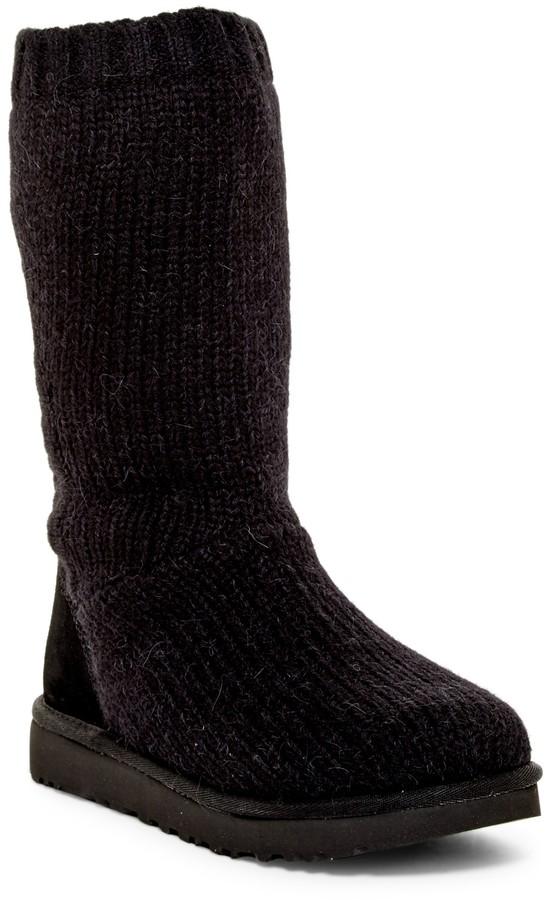 UGGUGG Australia Capra Ribbed Knit Genuine Shearling Lined Boot