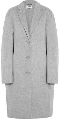 Acne Studios - Avalon Doublé Oversized Wool And Cashmere-blend Coat - Light gray $1,150 thestylecure.com