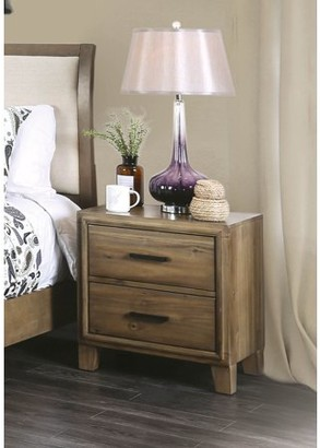 Furniture of America Miranda Rustic Light Oak Nightstand