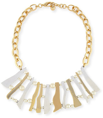 Lulu Frost Dauphiné Pearly Stick Collar Necklace $475 thestylecure.com