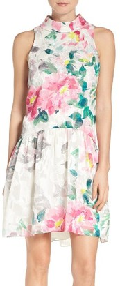 Women's Eliza J Crepe De Chine Skater Dress $148 thestylecure.com