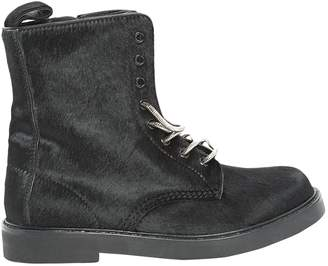 Calvin Klein Collection Pony-style calfskin biker boots