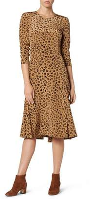 LK Bennett Leanie Silk Leopard-Print Dress