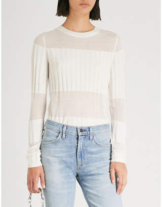 J Brand Fashion Andrea cashmere and silk-blend jumper