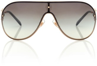 c86f3bb3d443 Miu Miu Gold Women's Sunglasses - ShopStyle