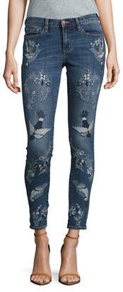 Buffalo David Bitton Faith Embroidered Skinny Jeans $108 thestylecure.com