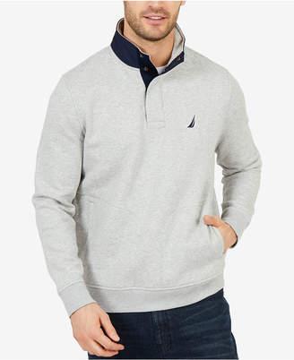 Nautica Men's Tech Fleece Half-Snap Pullover