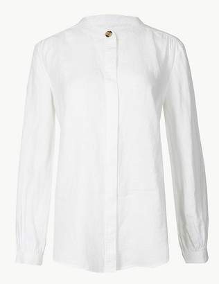 Marks and Spencer Pure Linen Long Sleeve Shirt