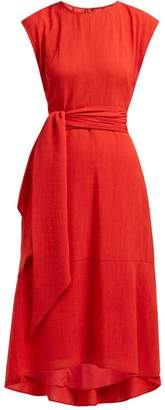 Freya Cefinn Tie Waist Voile Midi Dress - Womens - Red