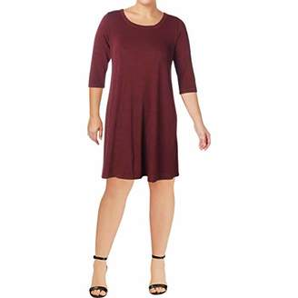 Karen Kane Women's Plus Size 3/4 Sleeve Dress