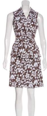 Lafayette 148 Printed Knee-Length Skirt Set