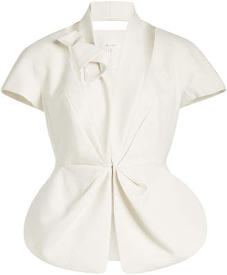 DELPOZO Knotted Blazer with Cut-Out Detail