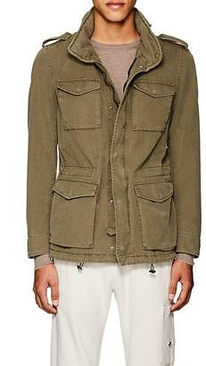 Herno Men's Hooded Cotton-Blend Military Jacket